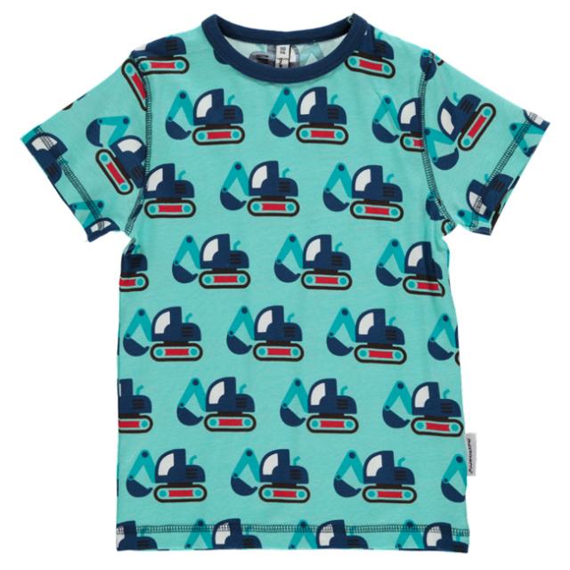 マクソモーラ半袖Tシャツショベルカー青