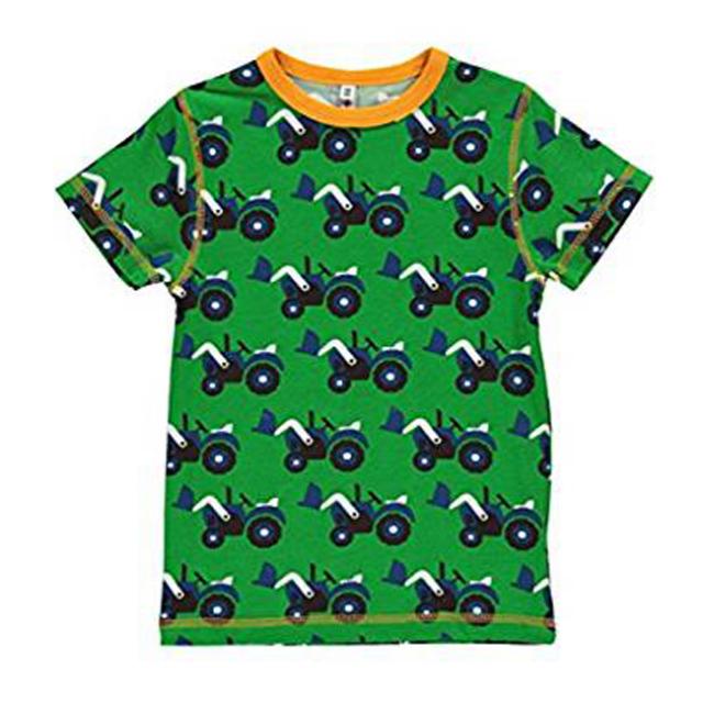 マクソモーラ半袖Tシャツブルドーザー緑