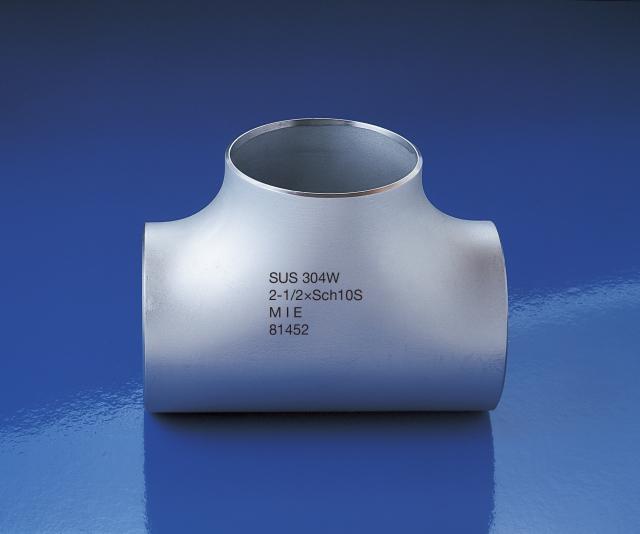 ステンレス製 突合せ式溶接継ぎ手 同径チーズ 15A~80A 10S
