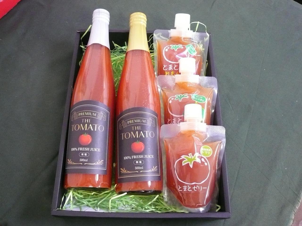 ◆鳥取から全国へお届け◆トマトジュースととまとゼリーのギフトセット
