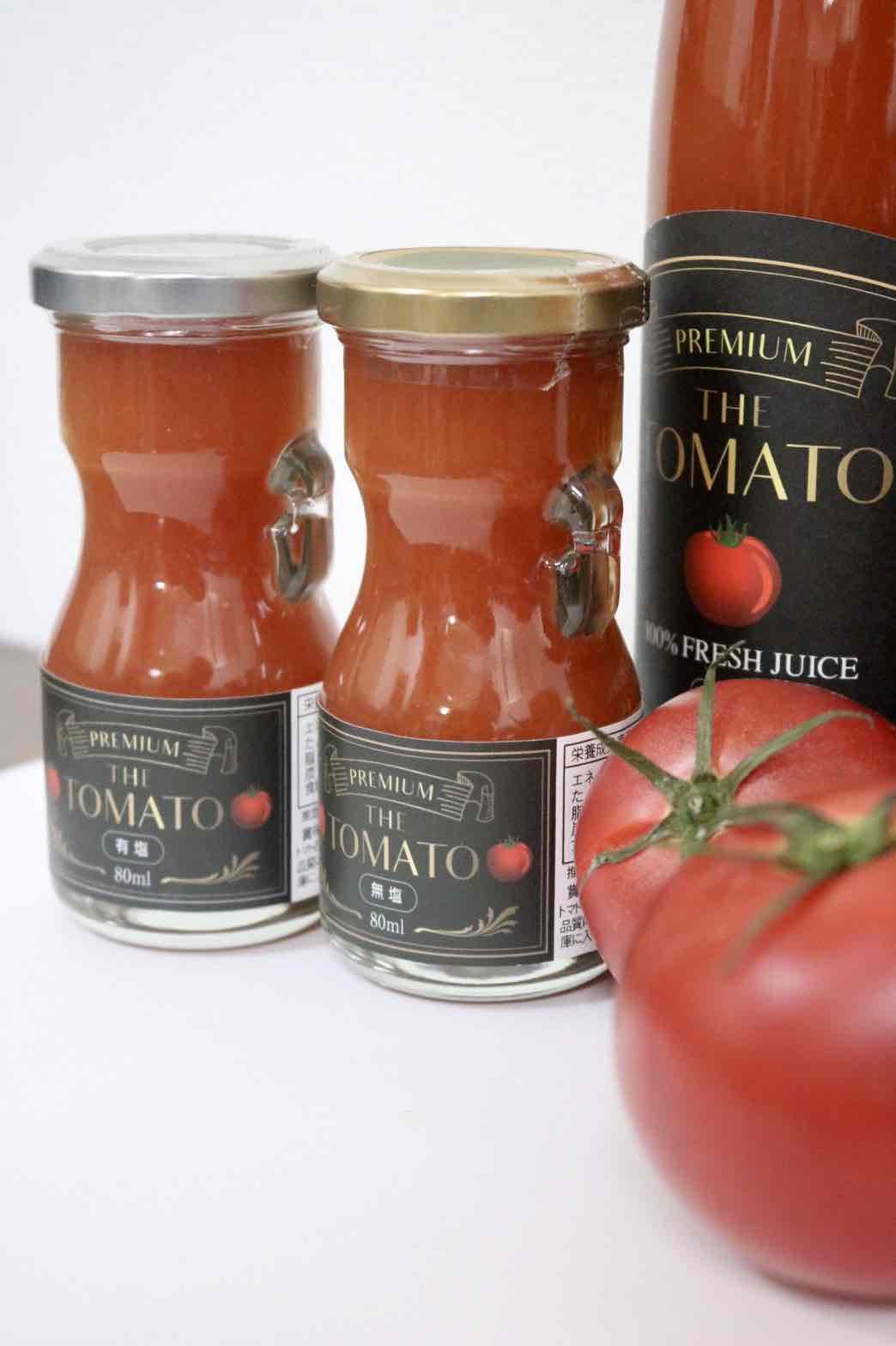 ◆鳥取から全国へお届け◆無塩トマトジュース(80ml×5本)セット