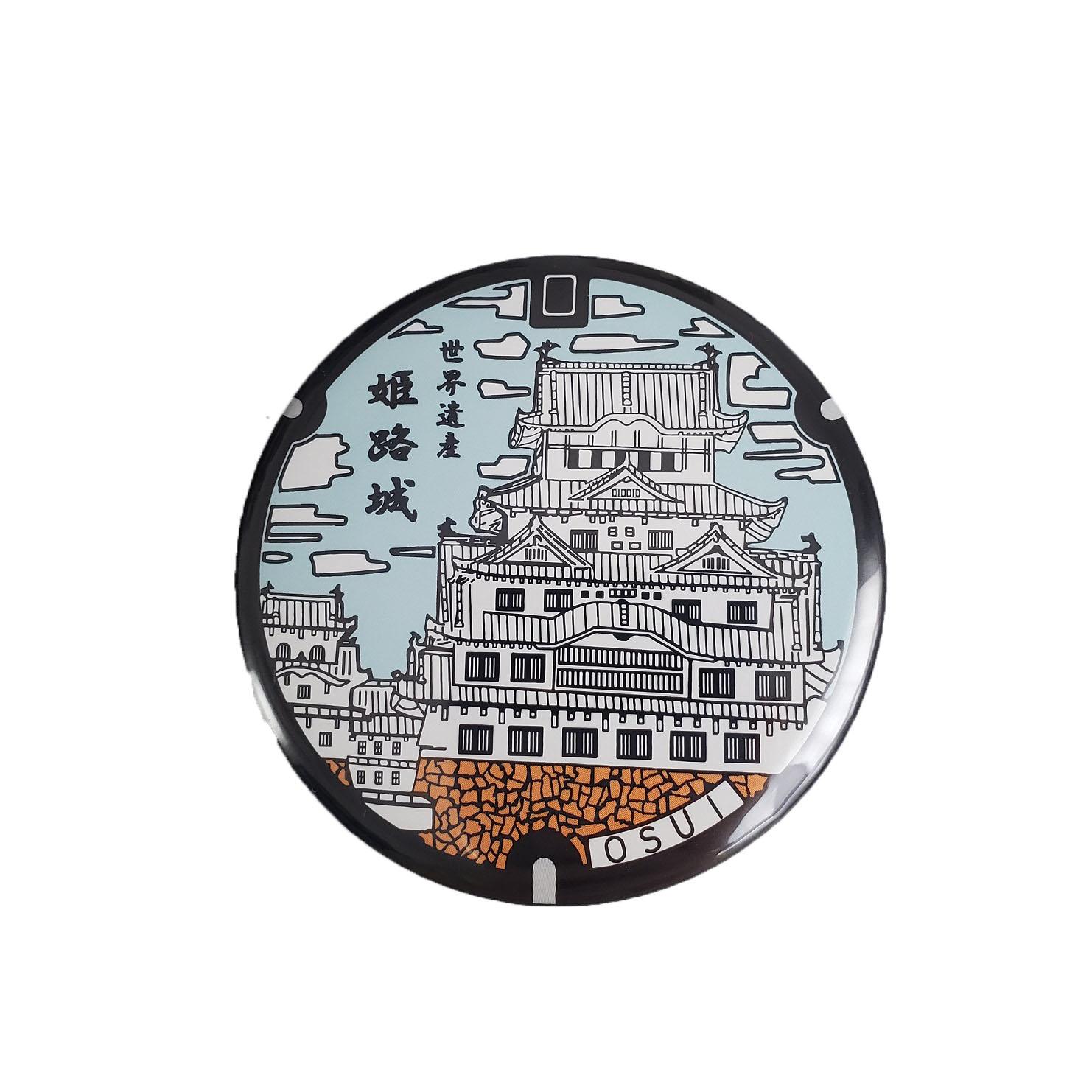 ご当地マンホール缶バッジ 兵庫県姫路市【メール便可能】