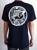 ご当地マンホールTシャツ 広島東洋カープ×広島市下水道局 ネイビー 【大人用】