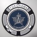 ご当地マンホール耐熱プレート 横浜DeNAベイスターズ×横浜市【メール便可】