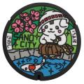ご当地マンホールラバープレート 栃木県佐野市【メール便可能】