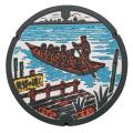 ご当地マンホールラバープレート千葉県松戸市 【メール便可能】