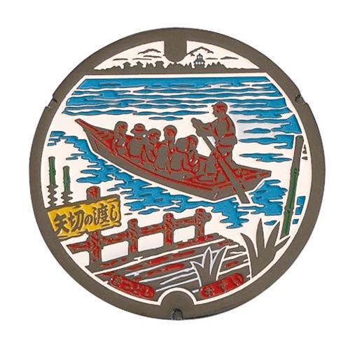 リアルご当地マンホール(ミニ) No.0041 千葉県松戸市 【メール便可能】