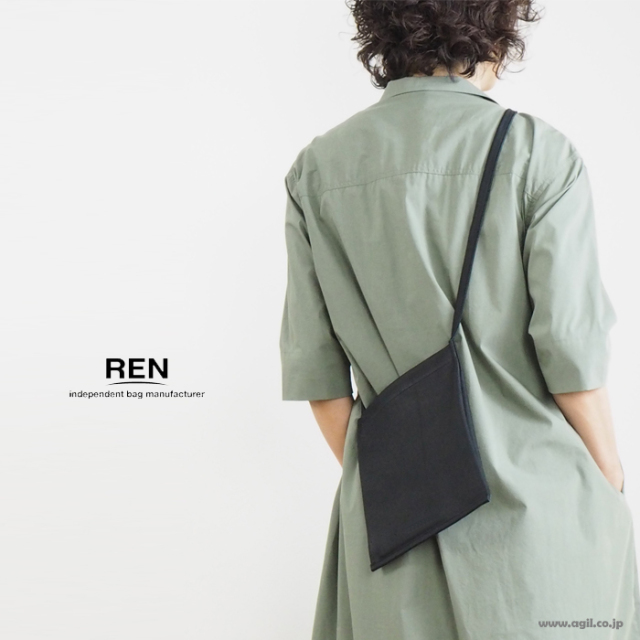 REN (レン) サコッシュ バッグ ポシェット ゴートベロア 本革 山羊革 レディース メンズ