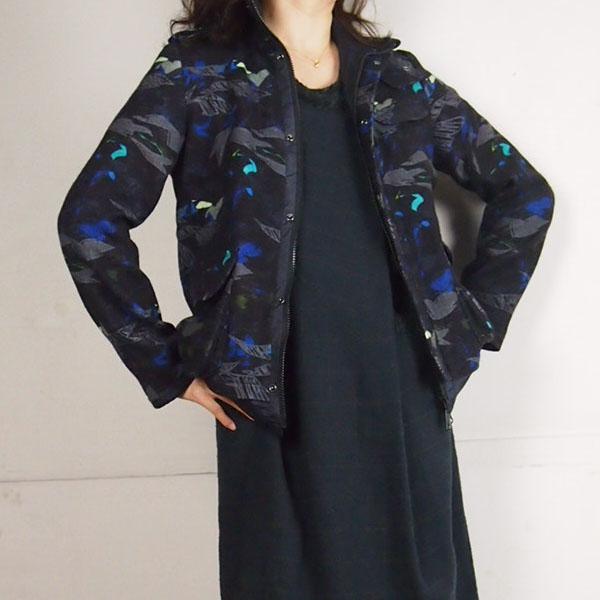FERAL FLAIR (フィラルフレア) ミリタリーウールジャケット カモフラ(迷彩)柄 レディース