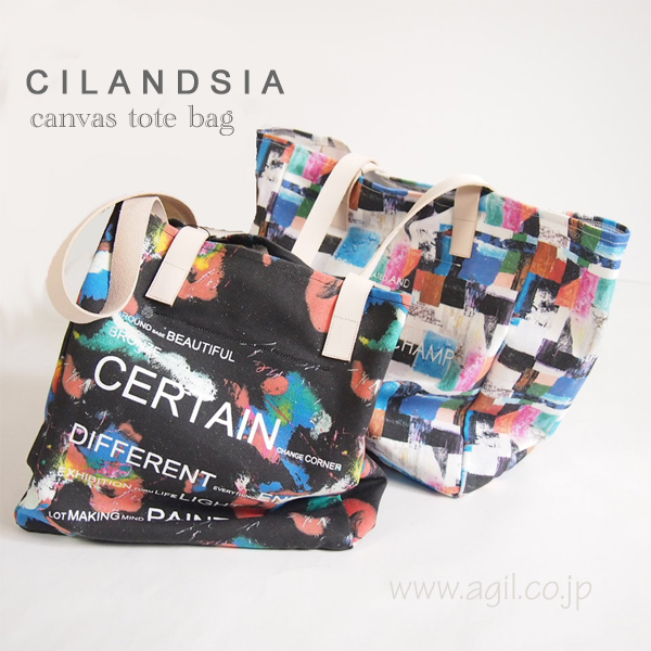 CILANDSIA(チランドシア) キャンバストートバッグ 布製 メンズ レディース