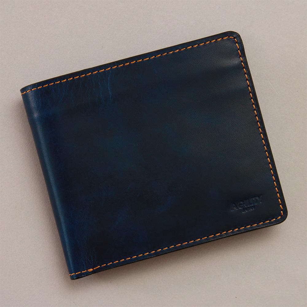 二つ折り 財布 折財布 ウォレット 本革 レザー シンプル メンズ おしゃれ