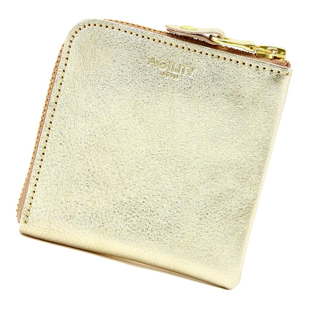 ハーフウォレット コインケース カードケース 札入れ レザー 金 銀 ゴールド シルバー