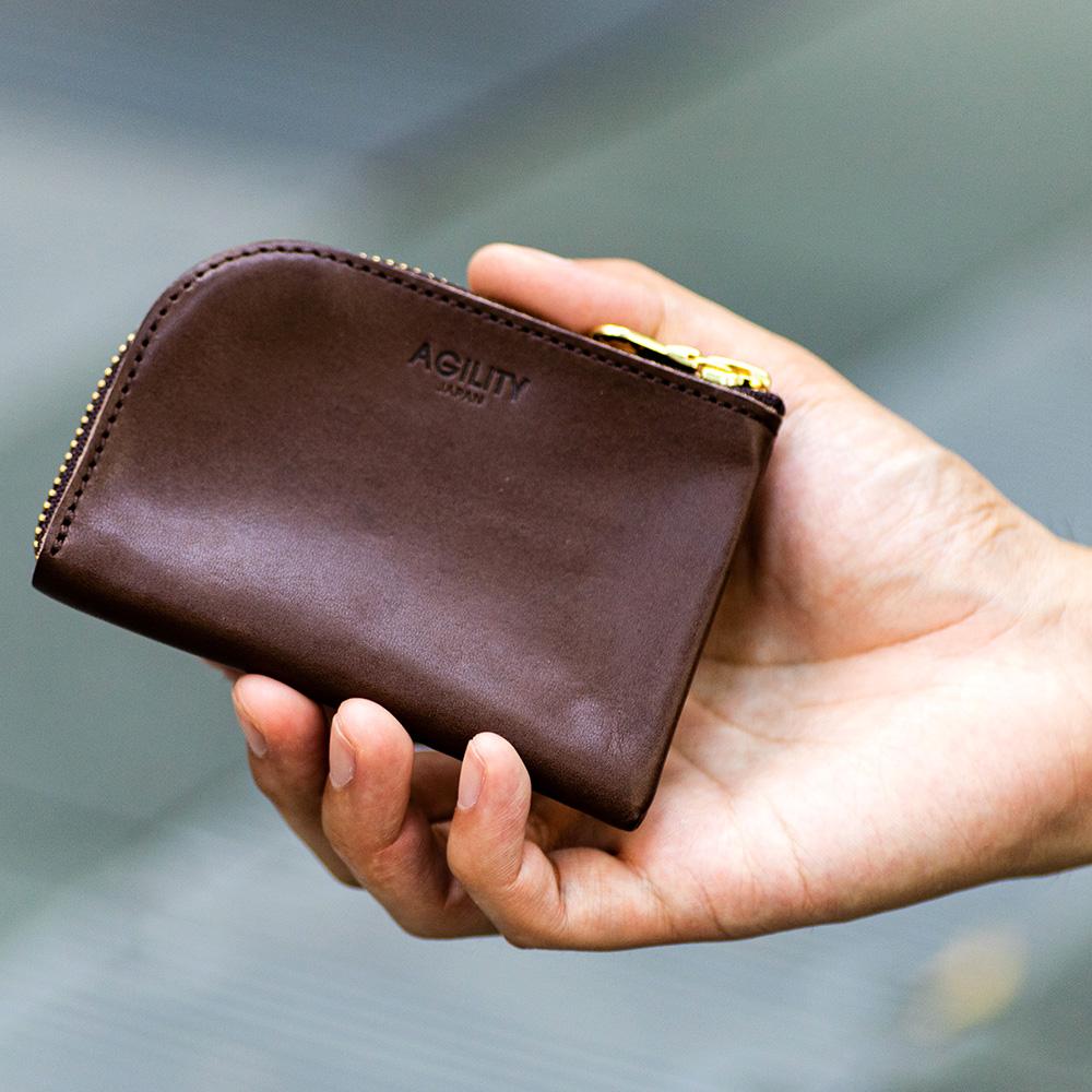 ミニ財布 小銭入れ ワンアクション コンパクト ミニマリスト 革 小さい