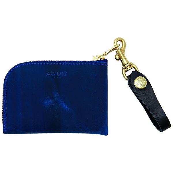 革財布 コインケース カードケース 牛革 日本製 レザー メンズ レディース ブルー