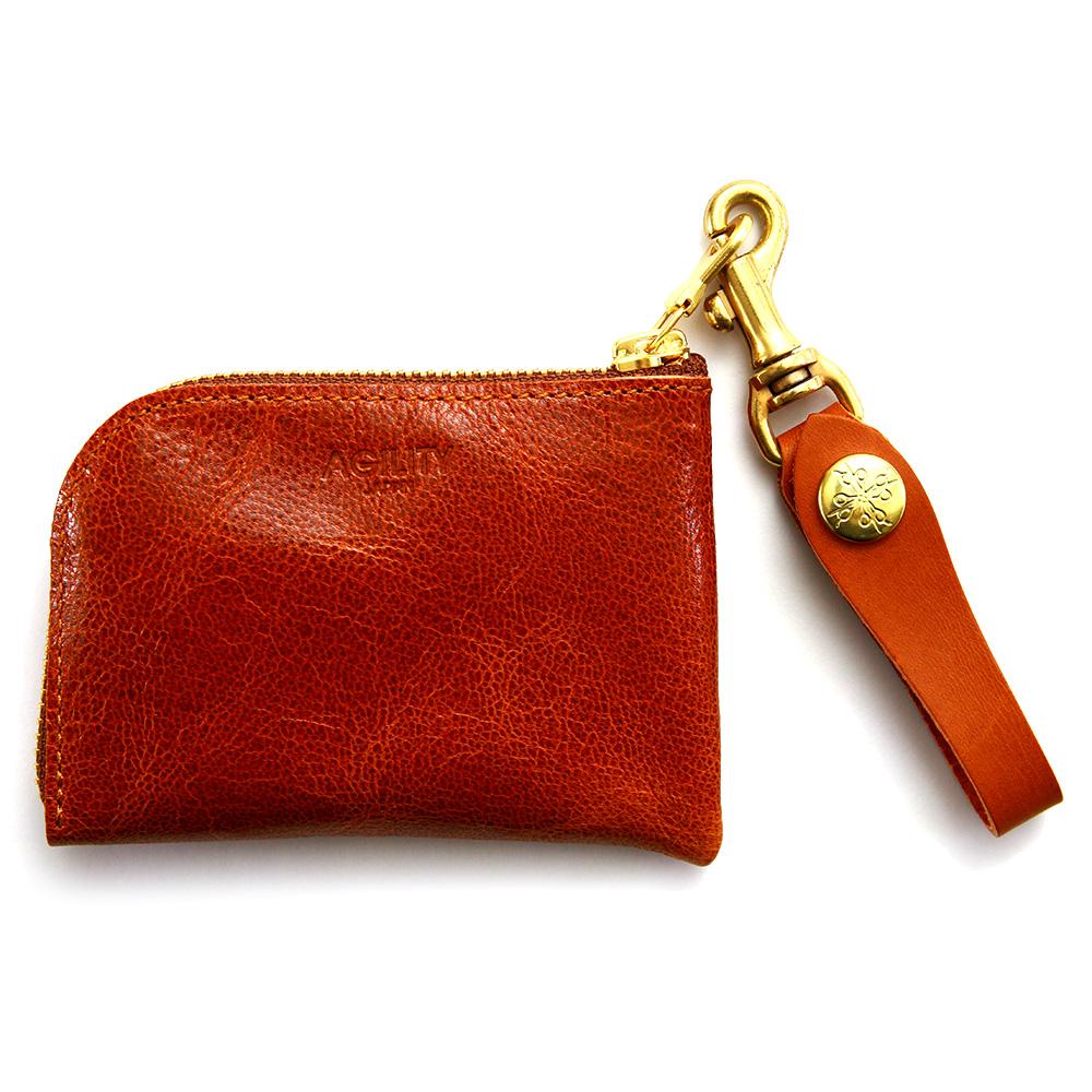 コインケース カードケース 小銭入れ コンパクト ウォレット 山羊革 カラフル ブラウン