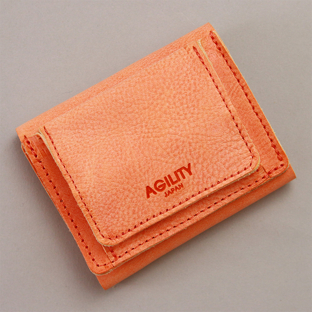 ミニ財布 三つ折財布 極小財布 レザー 革 本革 ミニ 小さい 小ぶり 薄い