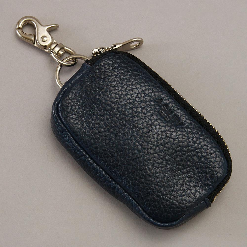 キーケース スマートキー 本革 ファスナー付き ICカード パスケース 一体型