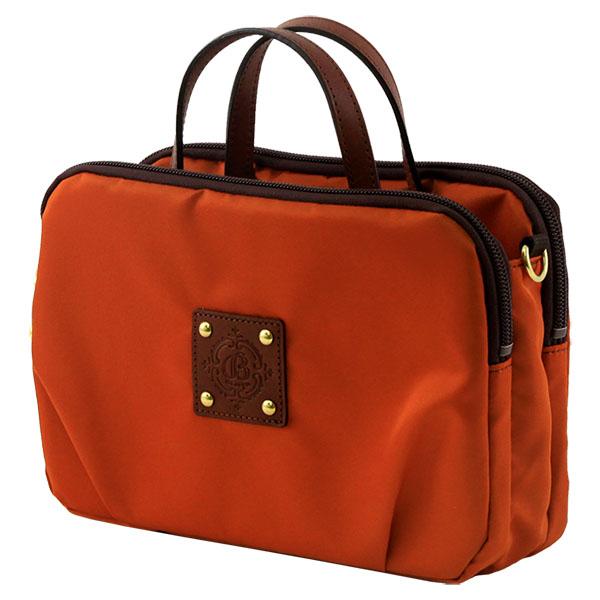 レディース バッグインバッグ ナイロンバッグ ハンドバッグ ミニバッグ 日本製  オレンジ