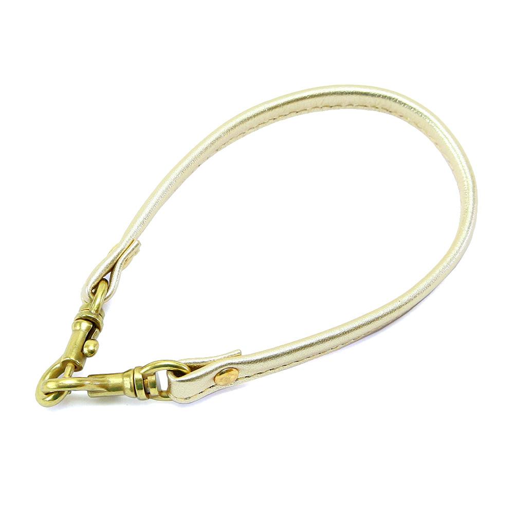 ストラップ レザー ハンドルストラップ 本革 箔 金 銀 ゴールド シルバー