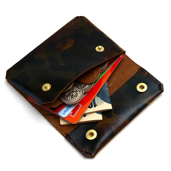 財布 極小ウォレット 牛革 レザー かわ