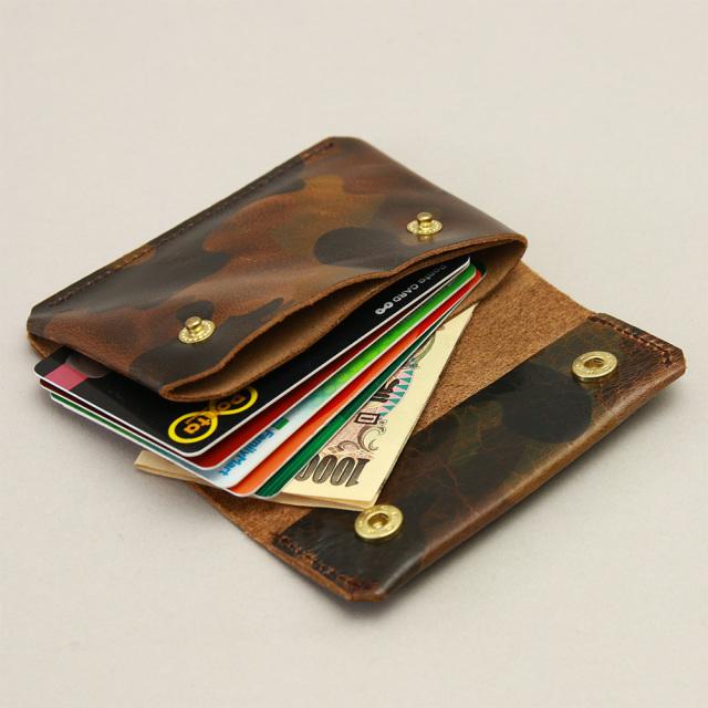 財布 極小財布 コンパクト ウォレット 迷彩 カモフラージュ カードケース 小さい