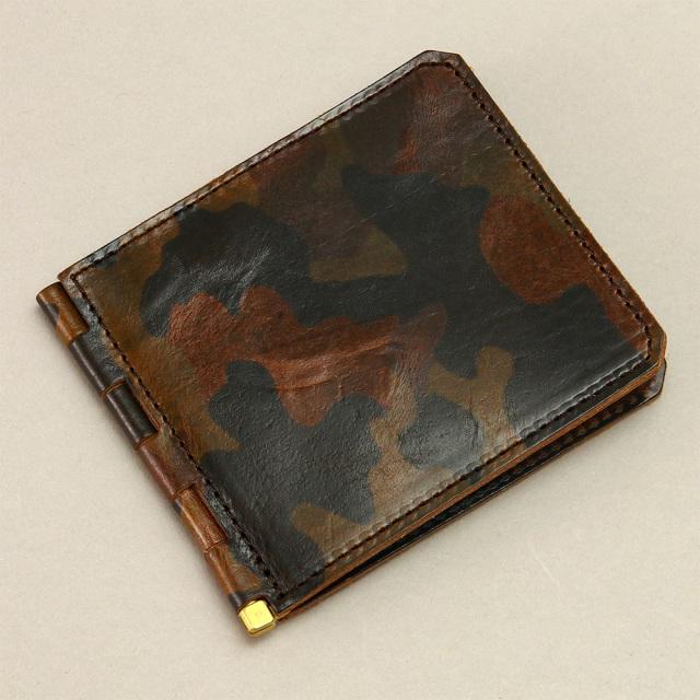 マネークリップ 札入れ 財布 カードケース 革 レザー 蝶番 シンプル