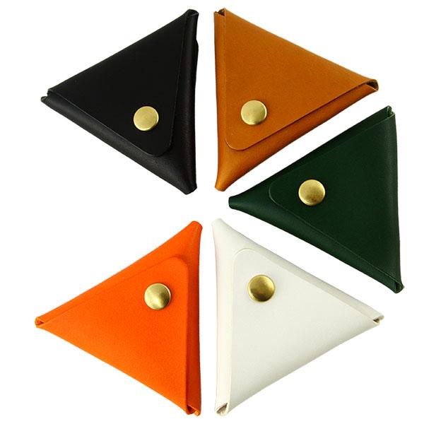 日本製 コインケース 三角 一枚革