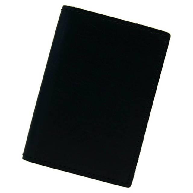 カードケース 本革 薄型 コンパクト 二つ折り メンズ レディース 20枚 日本製 ブラック