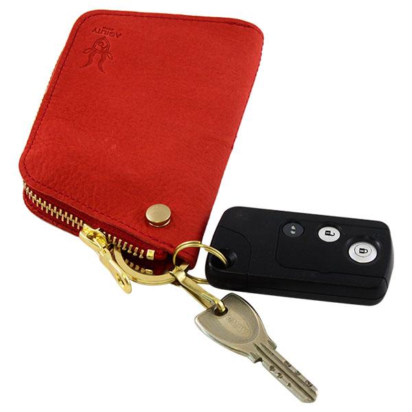 キーケース リモコンキー カードキー 免許証 日本製 本革 レザー ヤク革
