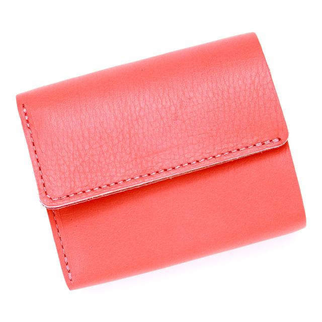 三つ折り財布 ミニ財布 ウォレット ちいさめ ミニ コンパクト 柔らかい ピンク