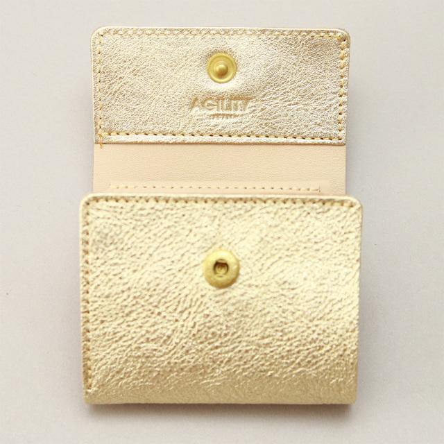 三つ折り財布 レディース コンパクト ちいさめ ミニ レディース 金 銀 ゴールド シルバー