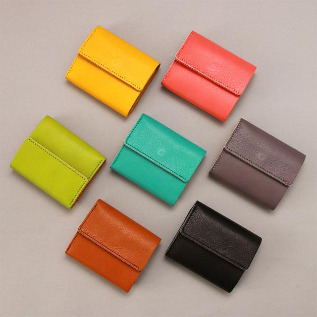 三つ折り財布 ミニ財布 ウォレット ちいさめ ミニ コンパクト 柔らかい