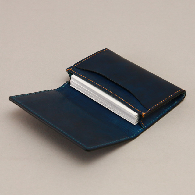 名刺入れ カードケース ササマチ 50枚 本革 ビジネス 仕事 シンプル メンズ