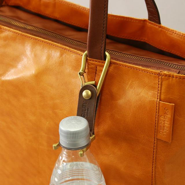 ボトルホルダー ペットボトル 真鍮 革 日本製