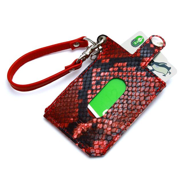 パスケース 財布 一体 ミニ財布 L字ファスナー 定期入れ ボタン