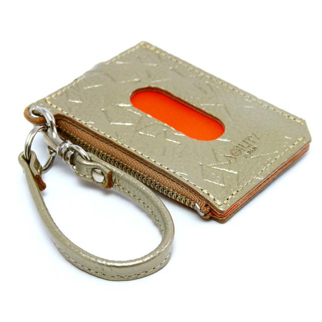 パスケース 財布 一体 ミニ財布 L字ファスナー 定期入れ 星 スター