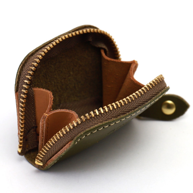 小銭入れ コインケース 20枚 ラウンドファスナー 極小 ミニマム 本革 レザー