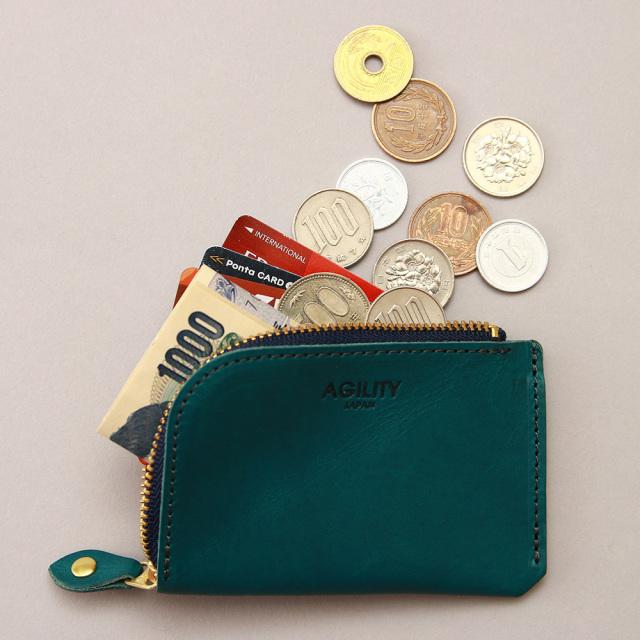 財布 極小財布 コインケース 小銭入れ ミニ財布 コンパクト L字ファスナー