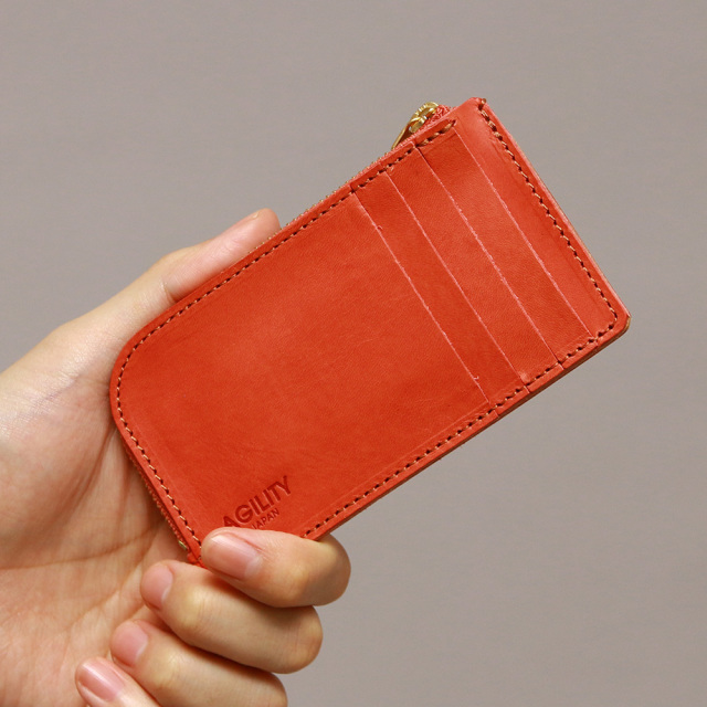 財布 インナーカードケース フラグメントケース L字ファスナー 本革 レザー
