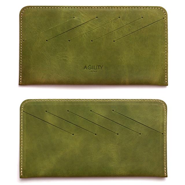 カードフォルダー 10枚 インナーカードケース 長財布 薄型 横型 本革