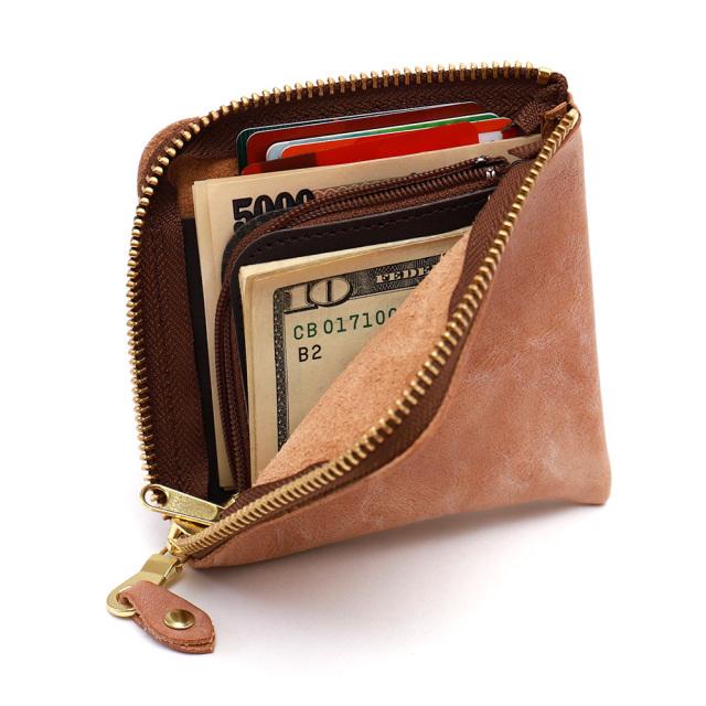 折財布 L字 コインケース カードケース 札入れ コンパクト レザー 本革  牛革
