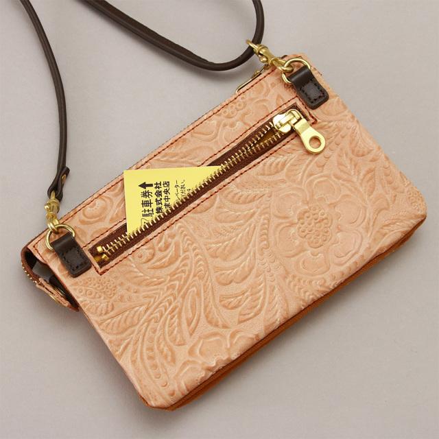 お財布バッグ ウォレットバッグ レザー 革 日本製 レディース