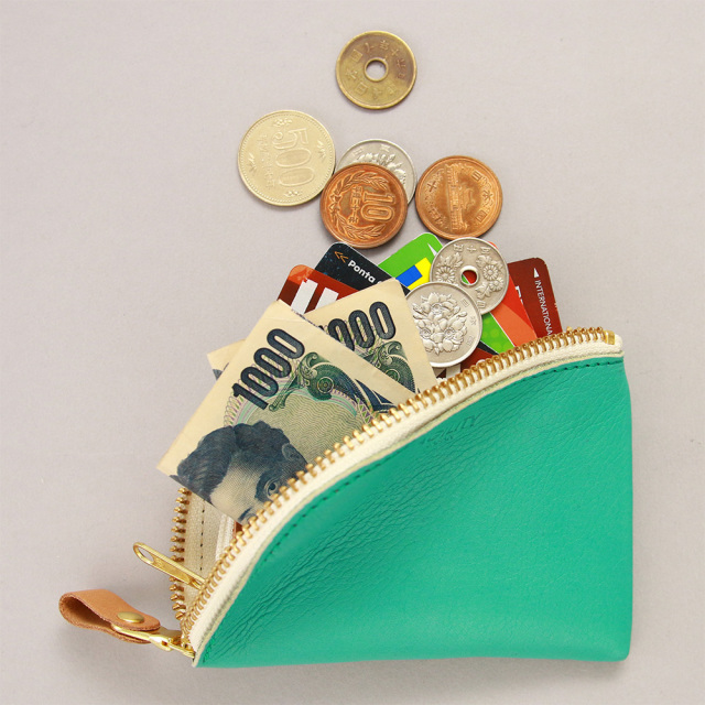 コンパクト コインケース 小銭入れ ミニ財布 L字ファスナー ダブルファスナー 小さめ レディース