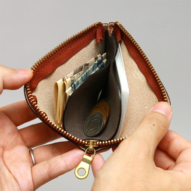 ミニ財布 小銭入れ ワンアクション コンパクト ミニマリスト 革 本革 小さい