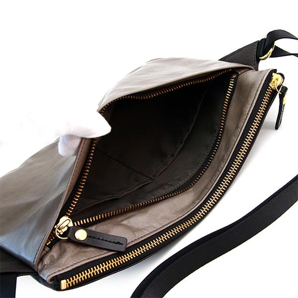 サコッシュバッグ ショルダーバッグ ボディバッグ 馬革 ナイロン 日本製