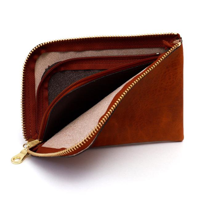 スマホ 財布 L字ファスナー 牛革 スマホが入る ミニ財布 小さい シンプル