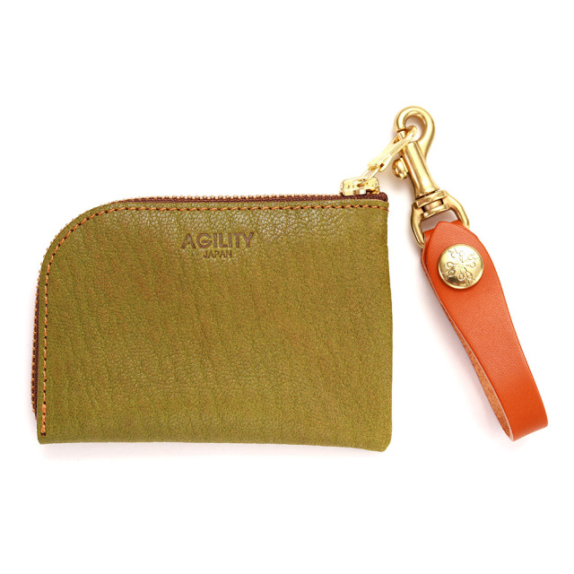 コインケース 小銭入れ カードケース アルジャン オージー 山羊革 日本製 グリーン