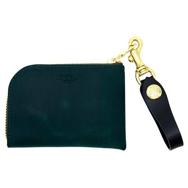 革財布 コインケース カードケース 牛革 日本製 レザー メンズ レディース グリーン