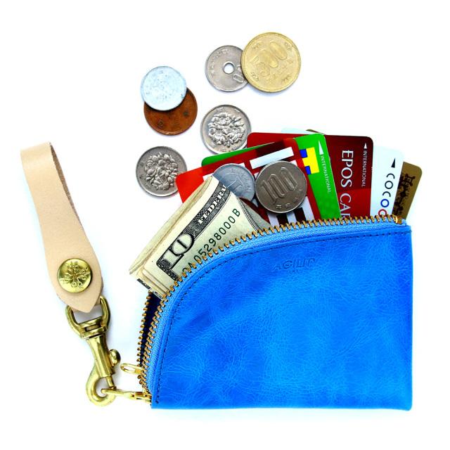 コインケース カードケース 小銭入れ L字ファスナー コンパクト 本革 レザー
