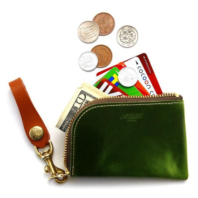 革財布 コインケース 小銭入れ カードケース 本革 L字 メンズ レディース
